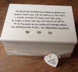 Shabby Personalised Chic Jewellery StepMother of the Bride / Groom Wedding gift.